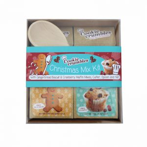 Cookie Crumbles Christmas mix kit gift set box with spoon