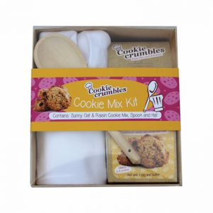 Cookie Crumbles cookie mix kit gift set with spoon and chefs hat