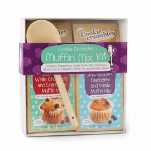Cookie Crumbles muffin mix gift set box