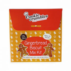 Cookie Crumbles gingerbread biscuit mix kit box