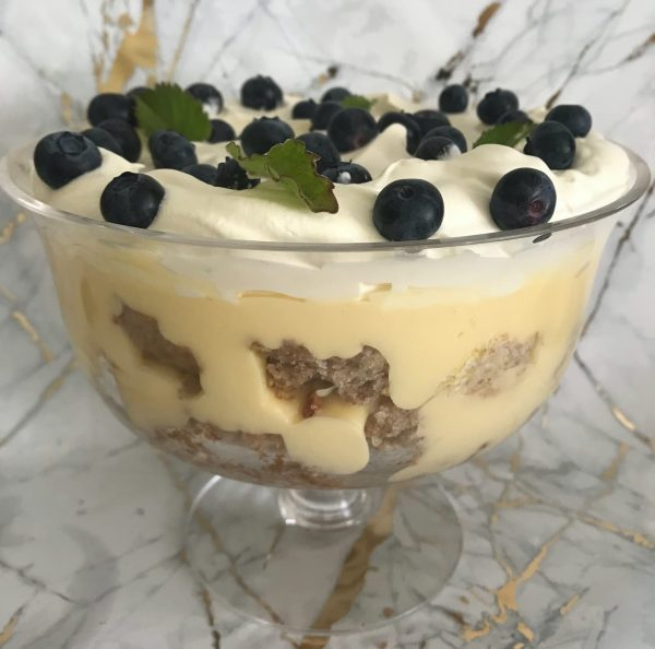 Blueberry muffin layered trifle