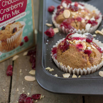 Cookie Crumbles white chocolate & cranberry muffins